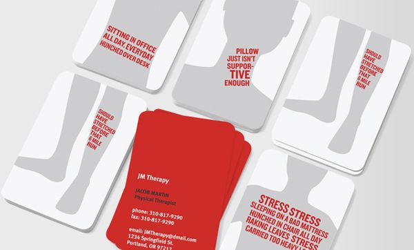 Great Looking Business Cards for the Physical Therapist Professional!
