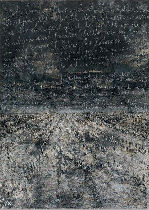 1980/Anselm Kiefer / Néo-expressionnisme :mouvement allemand, gestuelle et lutte de la matière.