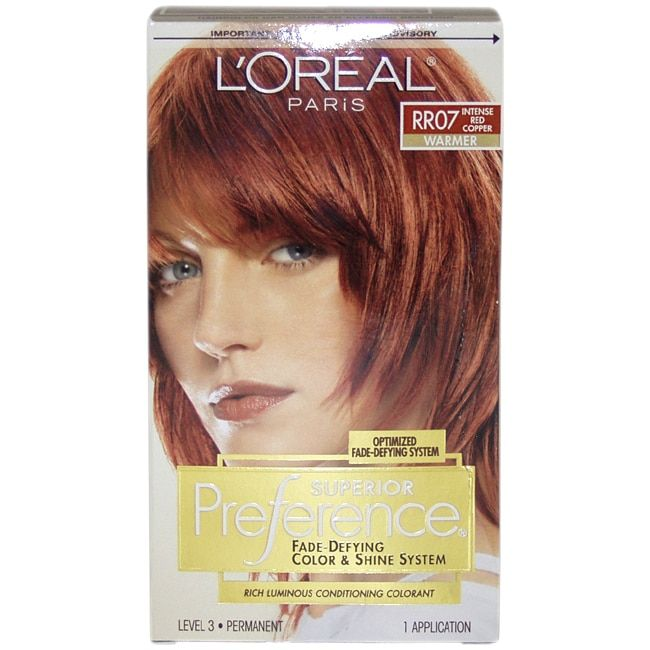 L\u002639;Oreal Superior Preference FadeDefying \u002639;Intense Copper RR07\u002639; Warmer Hair Color  sally beauty
