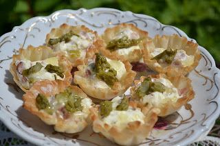 Sweetology: Fall Tea Party Ideas ~ Ham and Asparagus with Gruyere mini tarts