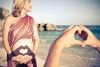 Wunderschönes Schwangerschaftfoto