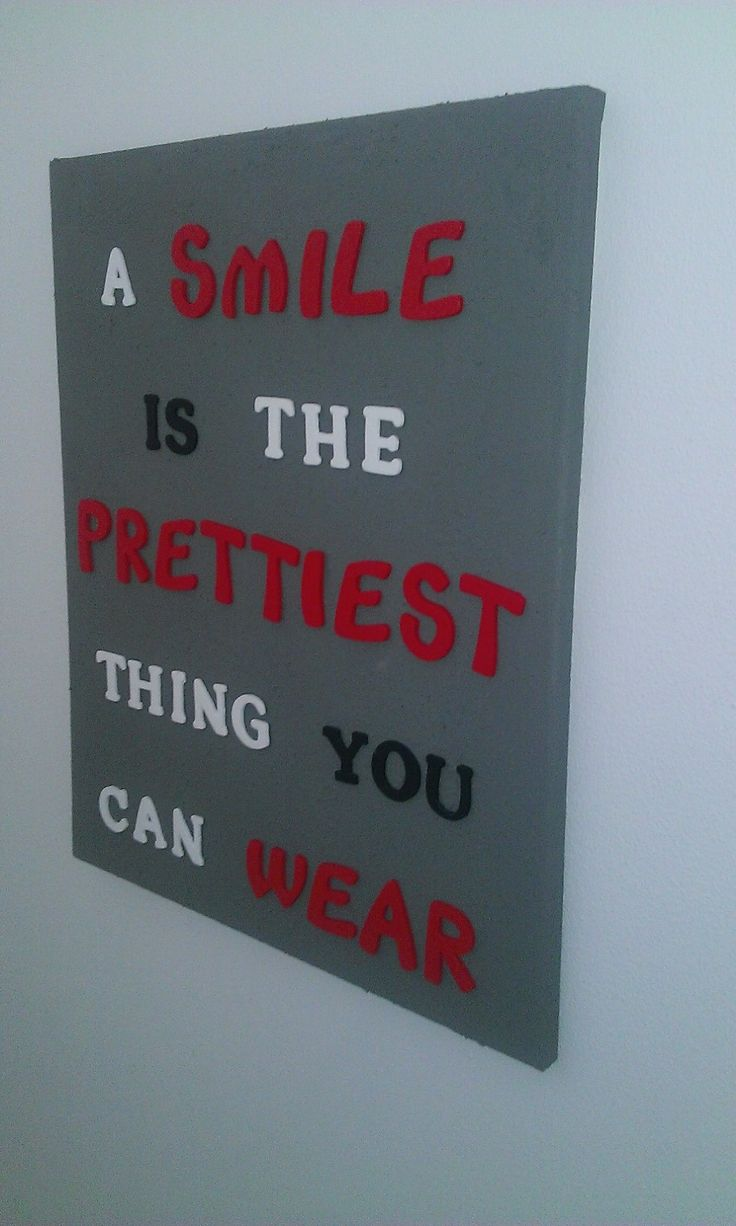A smile is the prettiest thing you can wear... :-)