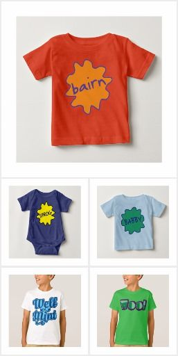 Slang & Dialect Gifts For Kids & Babies! A selection of t-shirts, vests and hoodies for everyone! #Dialect #Zazzle #Manchester #Liverpool #Bairn