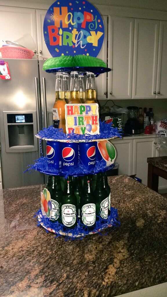 Boyfriends birthday surprise #twentyfirst #beercake