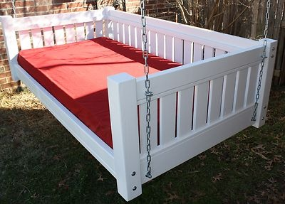Brand New Painted Victorian Daybed Swing Twin Mattress Swinging Day Bed Swings   eBay