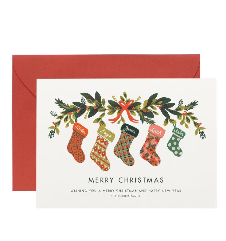 Stocking Family Custom Holiday Flat Note