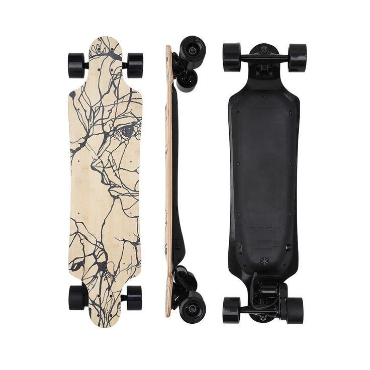 Sky board 1200W transparent sandblasting deck electric motor skateboard