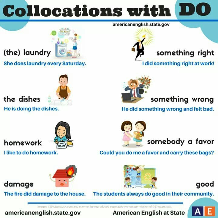 Collocations with do: