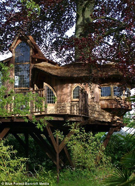 "Tree houses like ""Treetop"", can cost as much as £250,000 each."