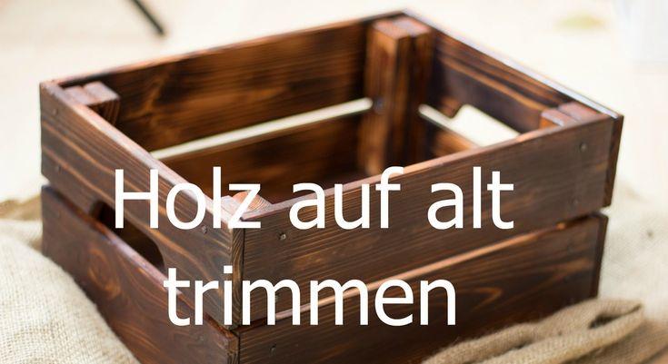 Holz altern lassen: aus neuen Möbel alte Design Möbel selbst herstellen. Im Beispiel lasse ich ein Ikea Kasten aus Kiefernholz künstlich altern. Altes Holz h...
