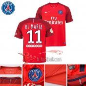 Fr-Football: Paris PSG 2016-2017 Saison Flocage Maillot De Foot Di Maria 11 Exterieur Rouge |Thai Edition
