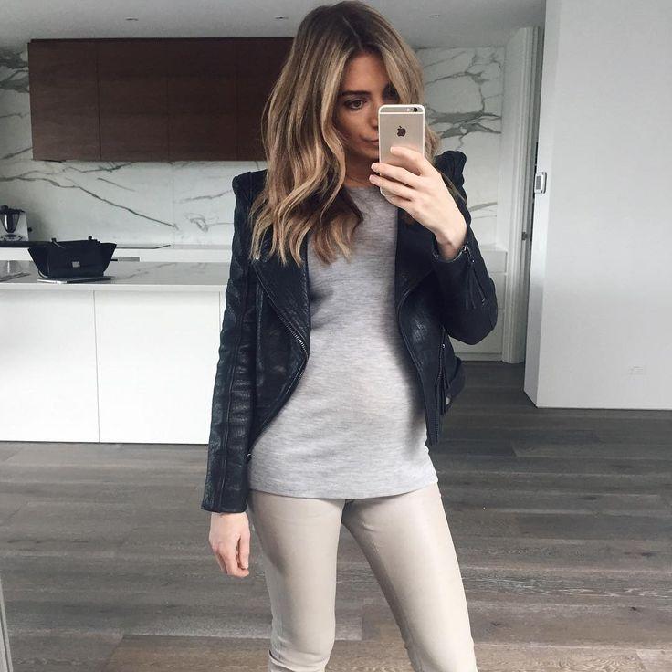 Nadia Bartel.. LXE Leather Leggings..