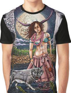 Luna (The Moon) Tarot Card Graphic T-Shirt