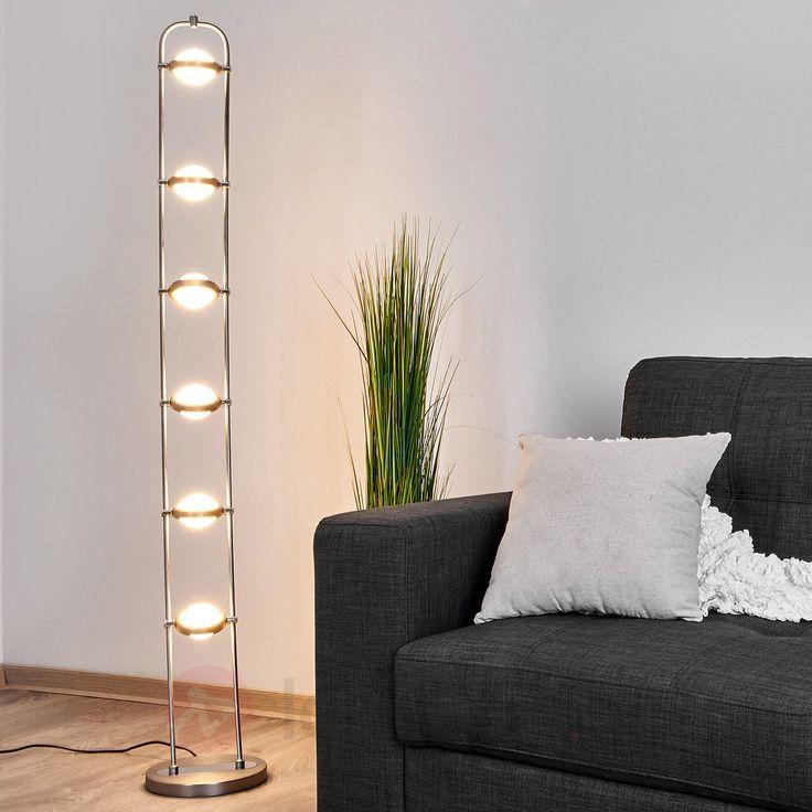 Fascinerande LED-golvlampa med integrerad dimmer