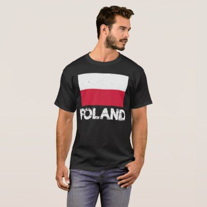 Poland Flag T-Shirt for Men and Women - diy cyo personalize design idea new special custom