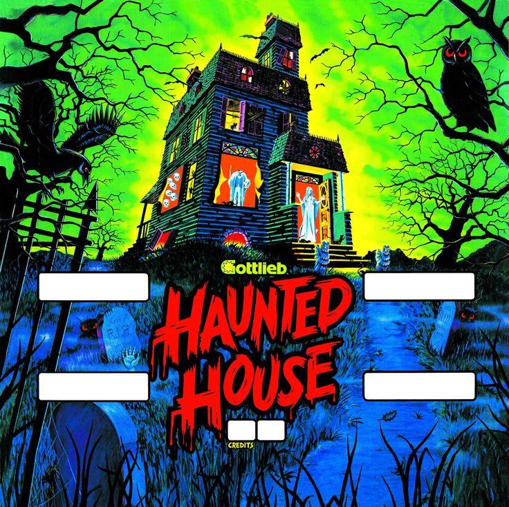 Haunted House pinball backglass