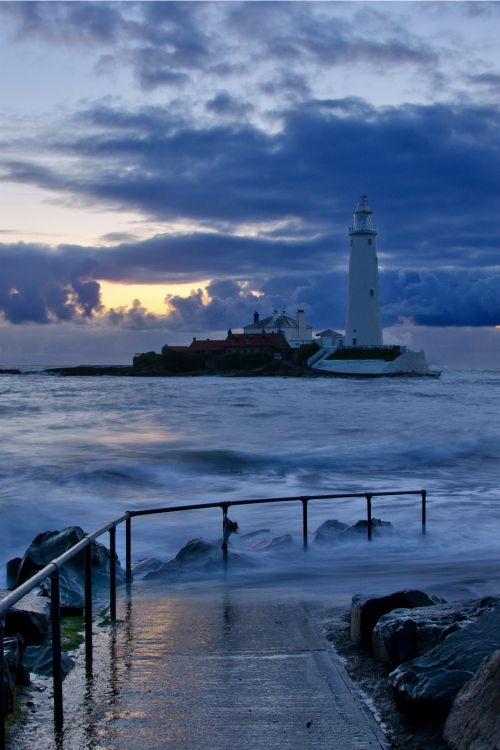 """ St Mary's lighthouse at Whitley Bay England by Paul Downing  """