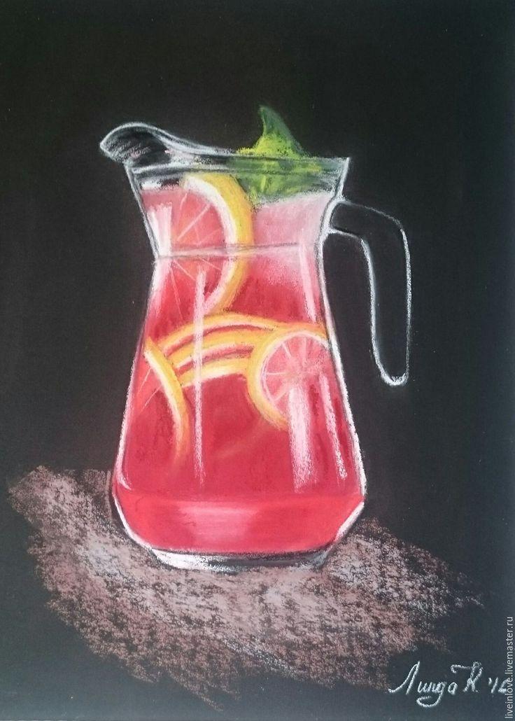 Купить Лимонад - ярко-красный, лимонад, натюрморт, пастель, Пастельная бумага…