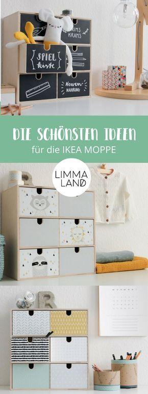Ideen für die Gestaltung der IKEA MOPPE Kommode – diesmal alles zum Bekleben vo…