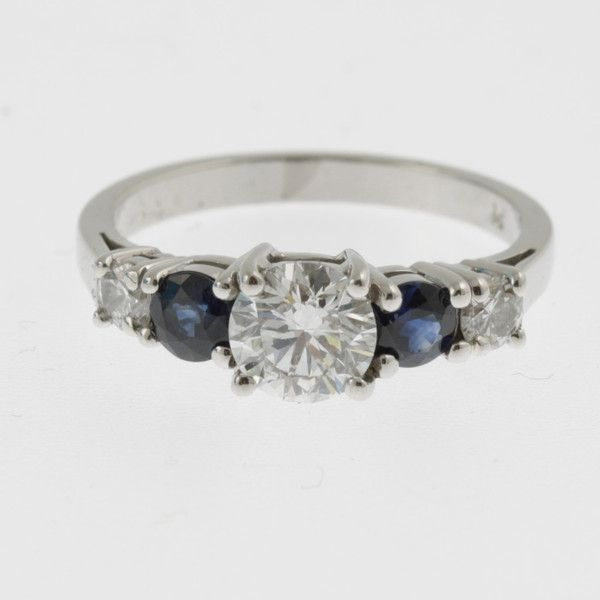 Ruth's custom made diamond and sapphire engagement ring - Sky with Diamonds