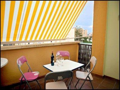 Balcony with sun shade balcony inspiration pinterest for Balcony shades