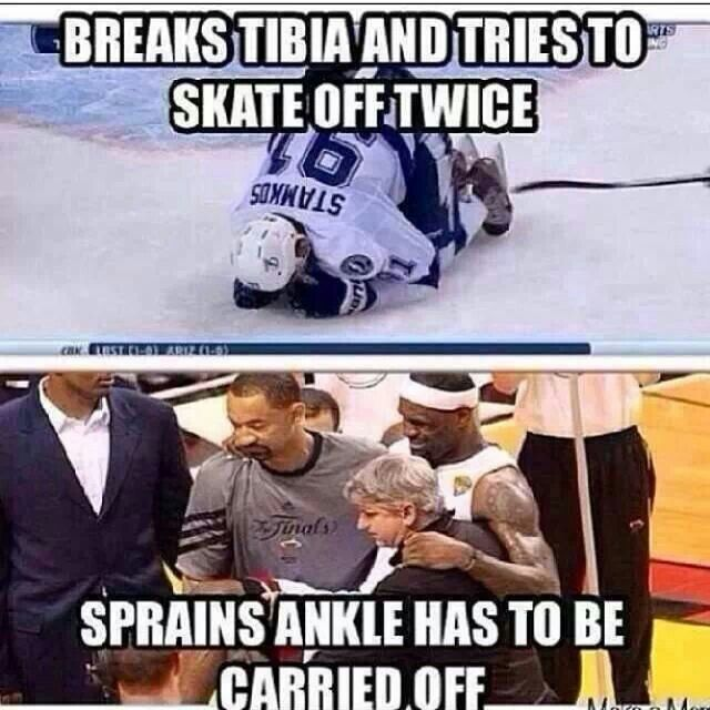 Hockey vs basketball. #Respect Tampa Bay Lightning!