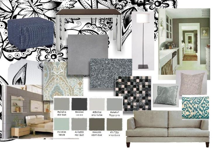 Mood Board Interior Design Material