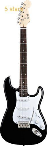 Fender Squier Bullet Strat with Tremolo Electric Guitar Rosewood Neck Black