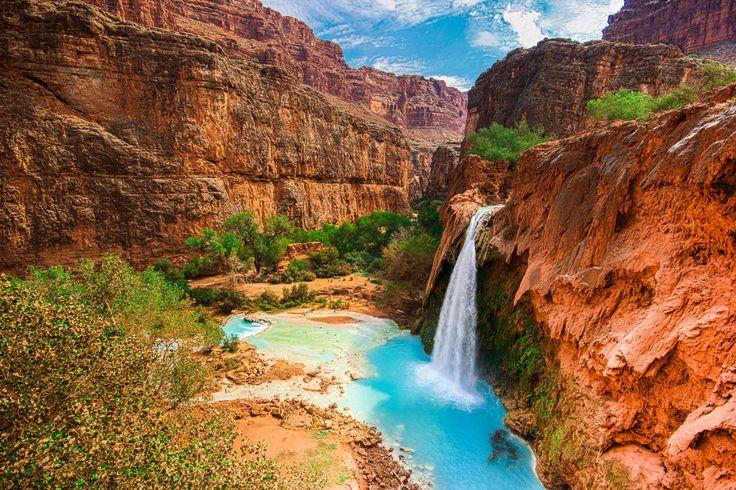 Les chutes d'Havasupai, Arizona : Les sites naturels les plus colorés sur Terre - Linternaute