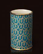 """Fortuny par L'Objet Petit vase en potterie et en or 24K / Small vase in earthenware and 24K gold., 3.5""""dia x 6""""h"""