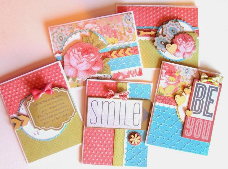 Beautiful cards by Karen Pedersen using CTMH Ariana papers and new embossing folders