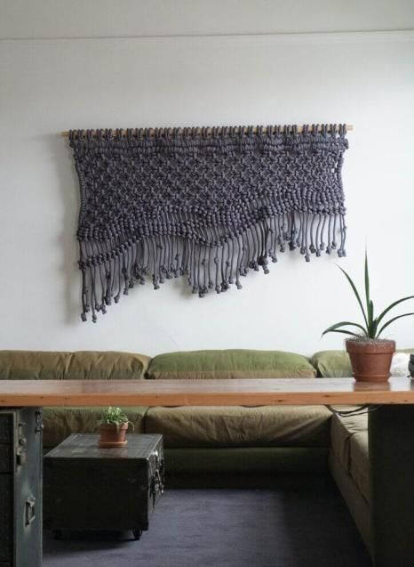 Moderno tapiz de macramé salon Pinterest Tapices de macramé - tapices modernos