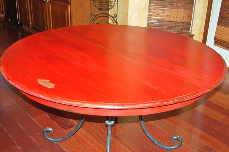 Chalk Paint Kitchen Table: Kitchen Table Painted W Red Chalk Paint