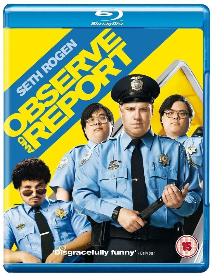 Blu-Ray Observe And Report 2 Disc Set Seth Rogen Comedy Hilarious Police Movie