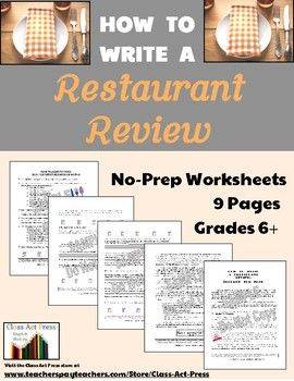 writing a restaurant review The writing room, new york, new york  the writing room is a neighborhood  restaurant, bar, and lounge boasting  recommendations and reviews.