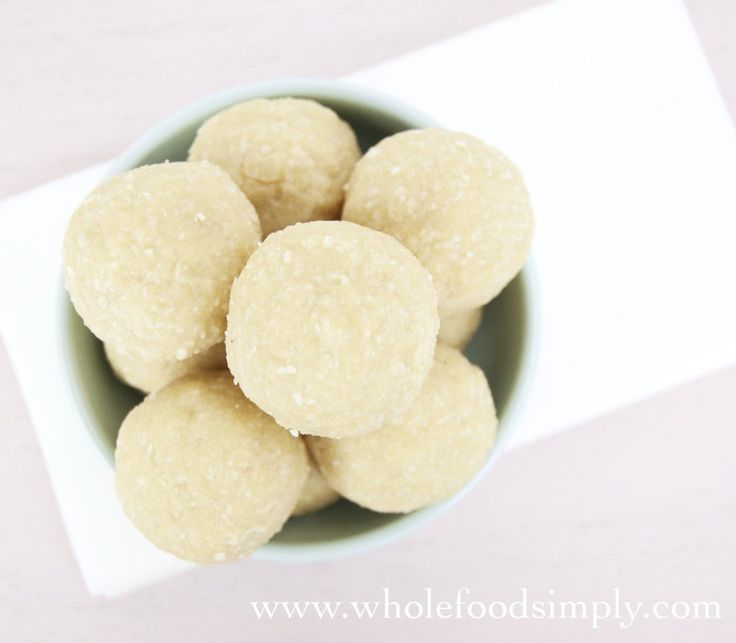 3 Ingredient Nut Free Bliss Balls. Simple, delicious and perfect for snacks and lunch boxes. Free from gluten, grains, dairy, egg, nuts and refined sugar.