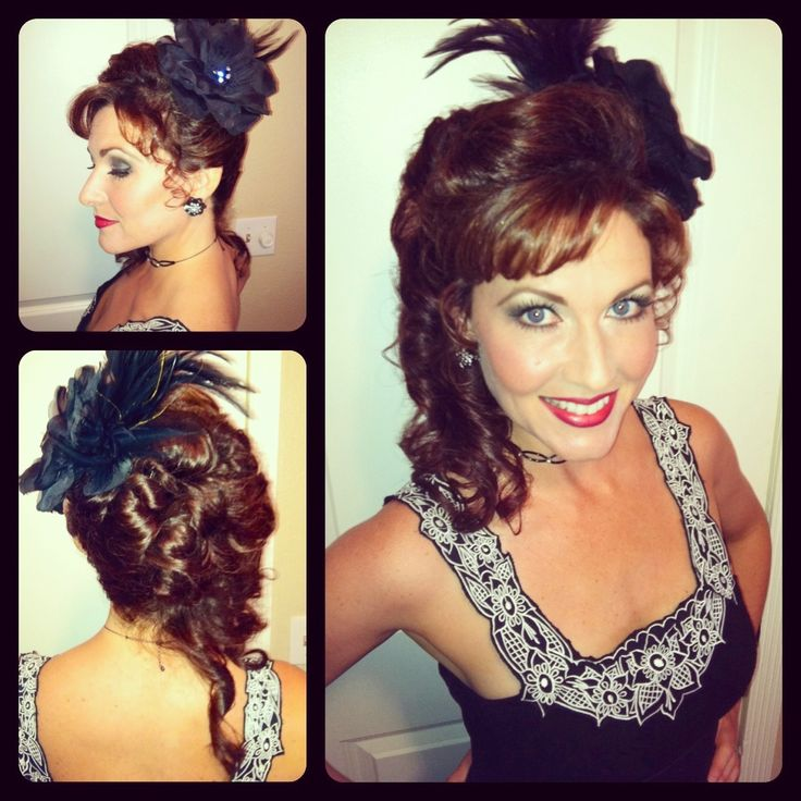 Saloon girl hairstyle.  :)