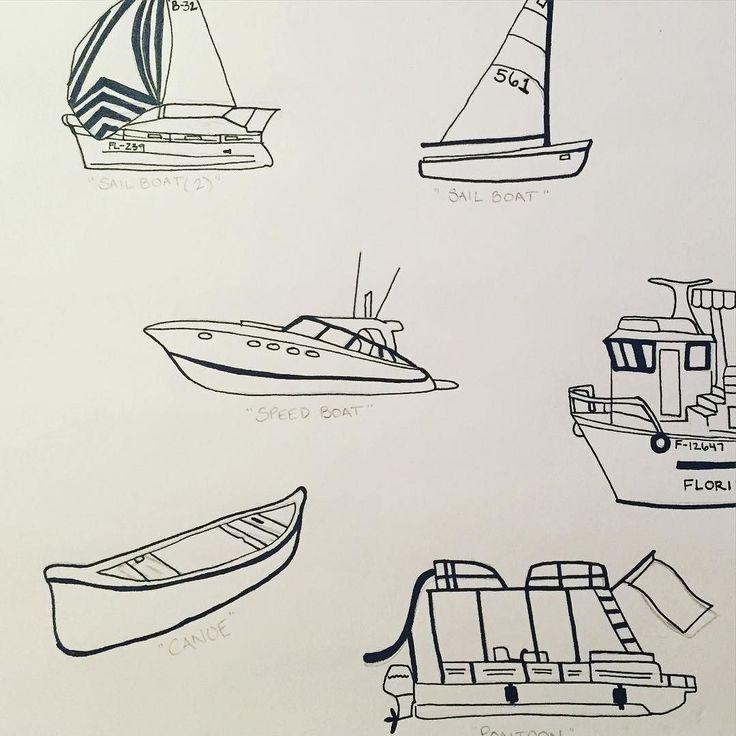 Картинка катера карандашом