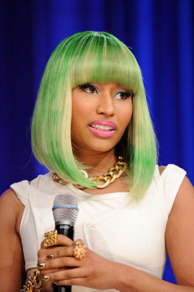 green hair black girl | Pictures of Nicki Minaj Hair Styles
