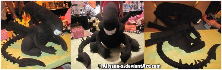 Xenomorph Alien Plush by Allyson-x.deviantart.com on @DeviantArt