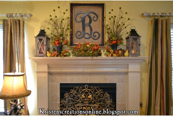 25 Fall Mantel Ideas - A Blissful Nest