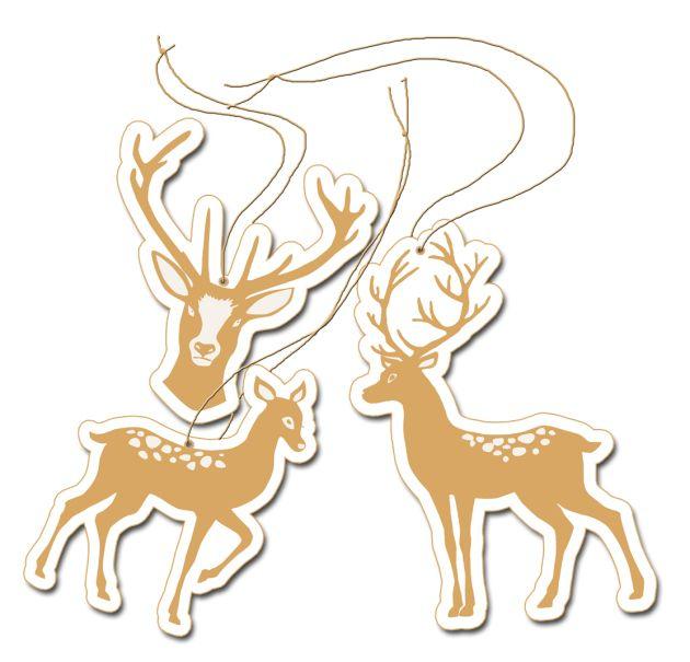 free printable christmass deer label