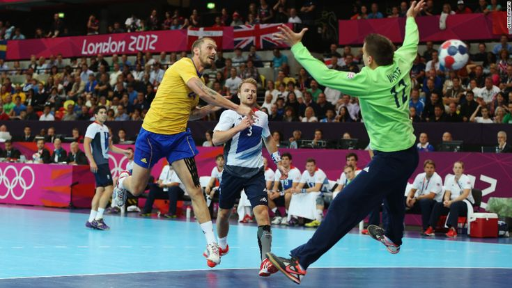 Sweden vs Great Britain in handball