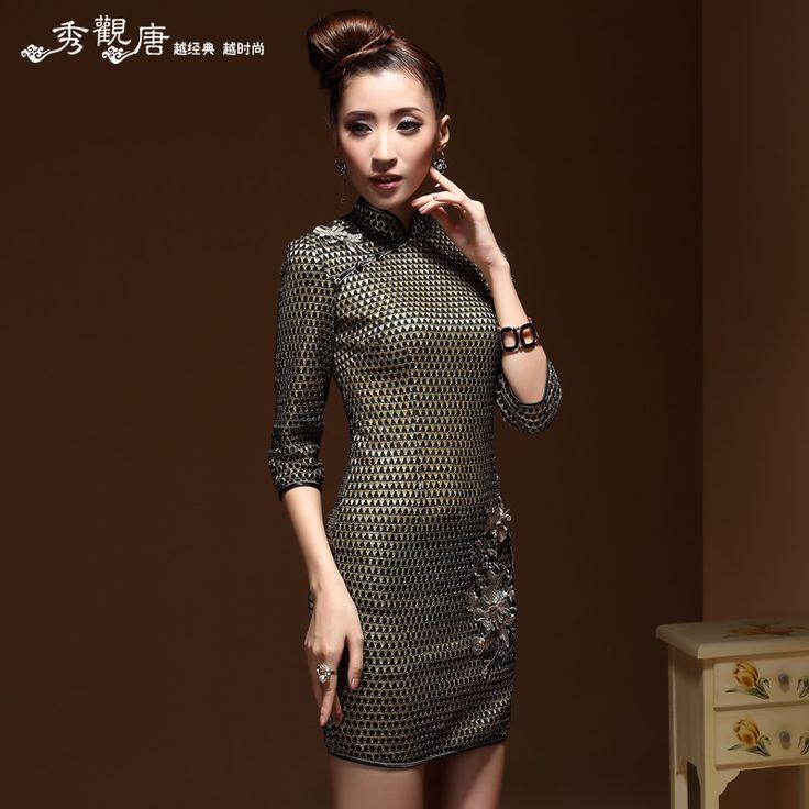 Extravagant Modern Mandarin Qipao Style Short Dress - Qipao - Cheongsam - Women