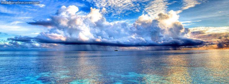 Seascape clouds sea clear blue Facebook Cover InstallTimelineCover.com