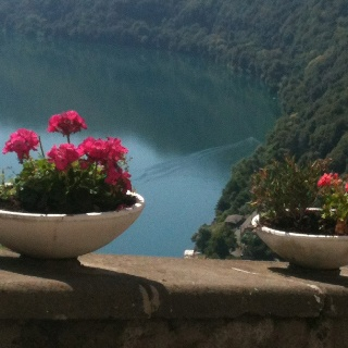 Lake Albano (Castelgandolfo) Not far from Frascati, worth seeing for the Papal Palace and sweet town attached!