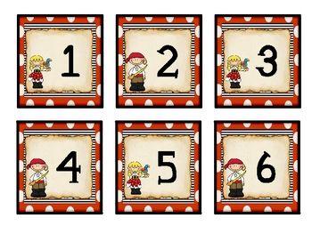 Pirate Theme Calendar Numbers{$1}