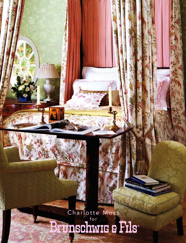 charlotte moss for brunschwig amp fils bedrooms that are