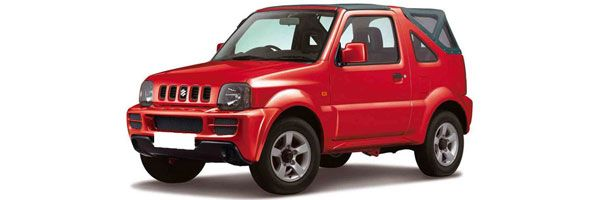Group E - Jeep Suzuki Jimny Cabrio:  1300cc, manual, 4 seats, 2 doors, A/C, radio, CD player. Rent a jeep in Paros