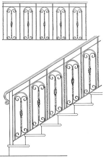 arches simple railing    railing designs isr604